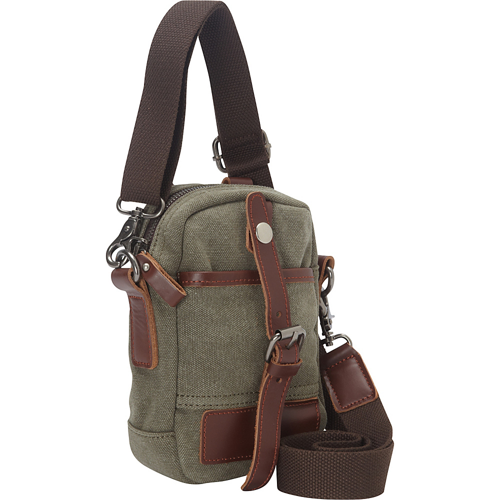 Vagabond Traveler Canvas Stylish Mini Shoulder Bag Military Green - Vagabond Traveler Other Mens Bags - Work Bags & Briefcases, Other Men's Bags