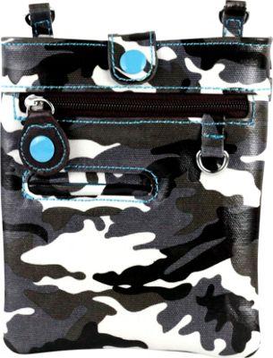 Urban Junket Chloe Mini Crossbody Grey Camouflage - Urban Junket Manmade Handbags