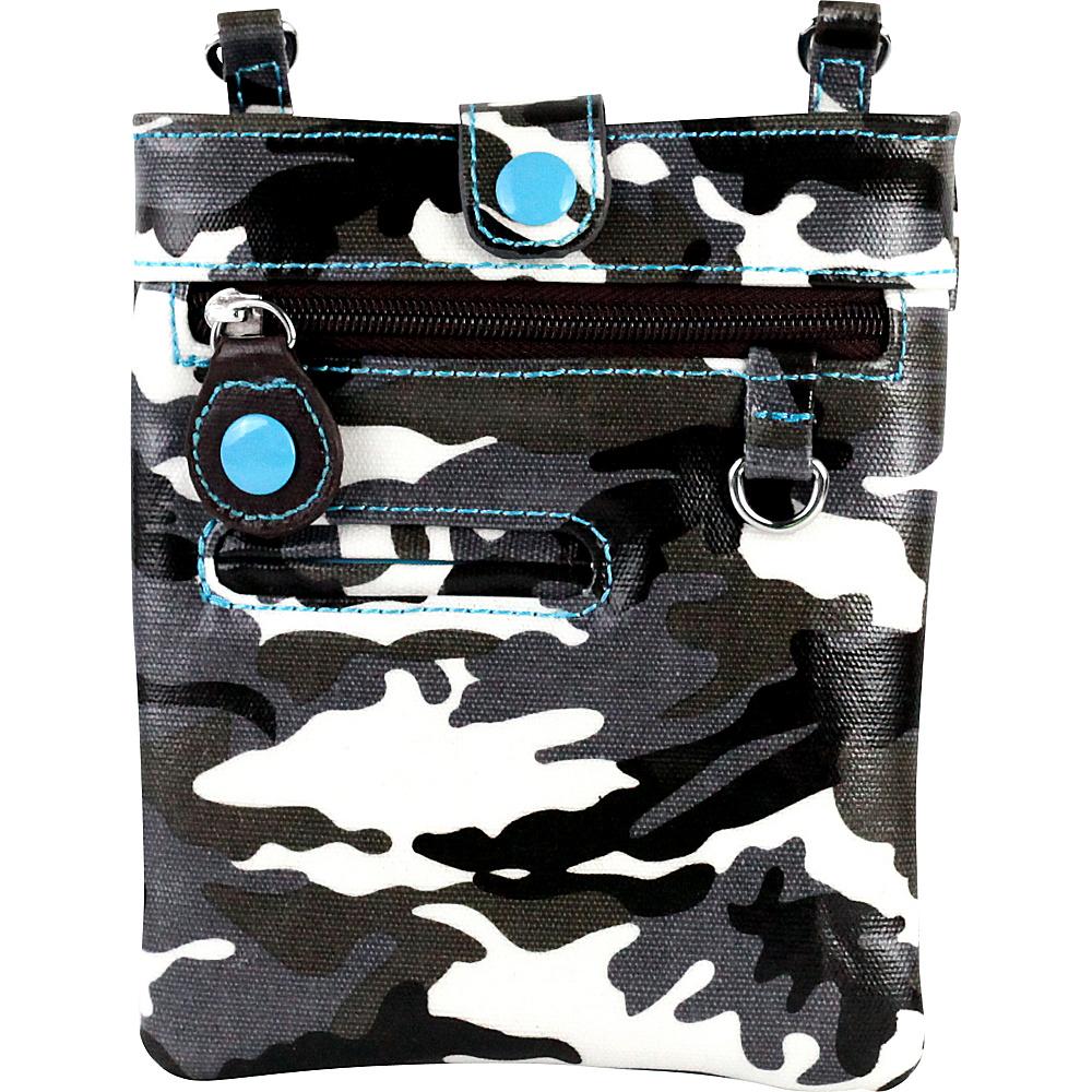 Urban Junket Chloe Mini Crossbody Grey Camouflage Urban Junket Manmade Handbags