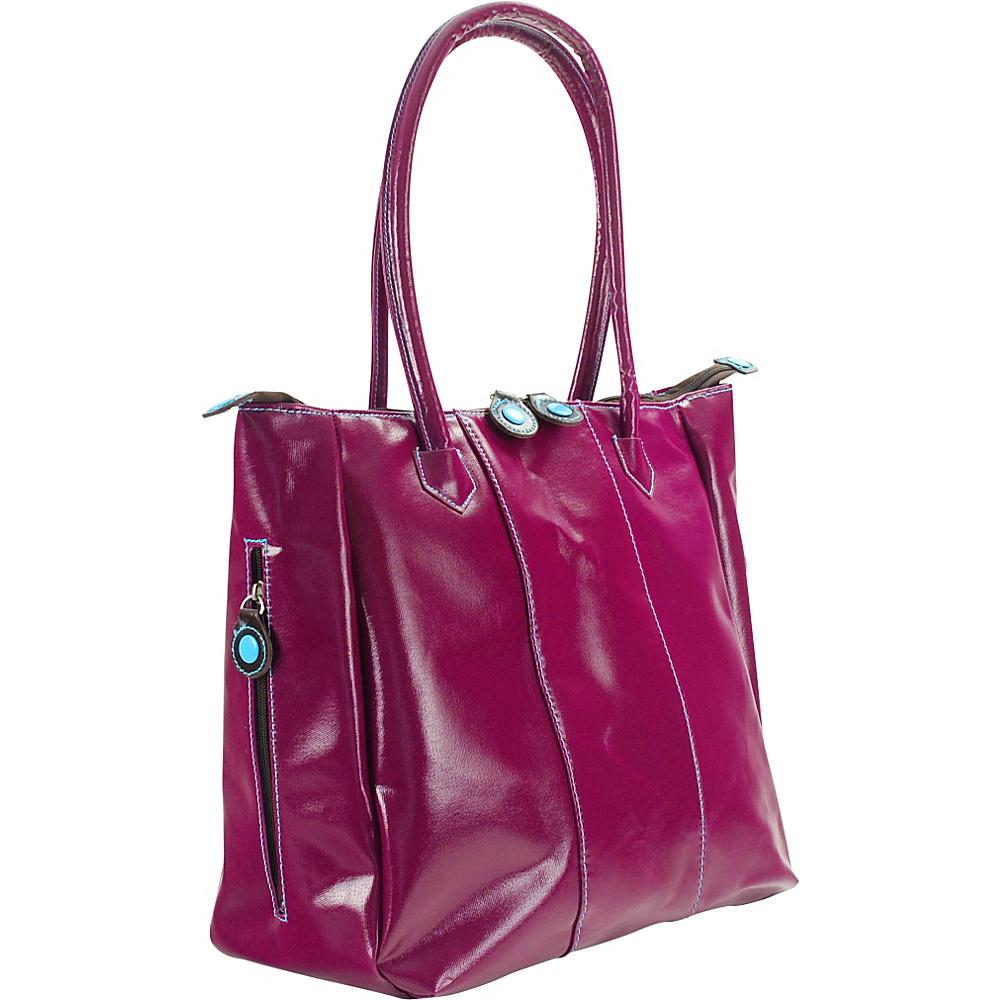 Urban Junket Ruth s Secret Satchel Magenta Urban Junket Manmade Handbags