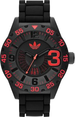 adidas watches Newburgh Watch Black with Red - adidas watches Watches