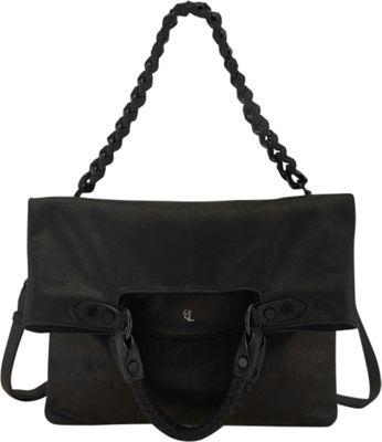 Elliott Lucca Iara Crossbody Foldover Tote Black - Elliott Lucca Designer Handbags