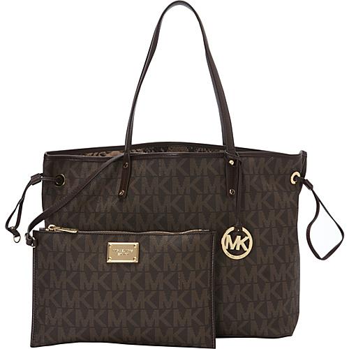 MICHAEL Michael Kors Large Reversible Tote Brown - MICHAEL Michael Kors Designer Handbags