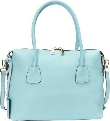 Donna Bella Designs Colette Tote Light Blue - Donna Bella Designs Leather Handbags