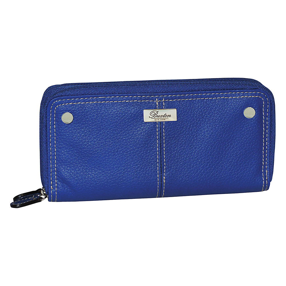 Buxton Westcott Slim Double Zip Ultramarine Buxton Women s Wallets