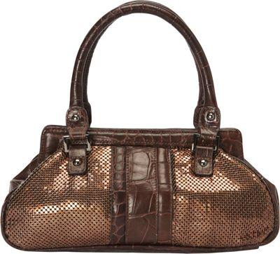 Whiting and Davis Croc Embossed Mini Dr. Bag Bronze - Whiting and Davis Manmade Handbags