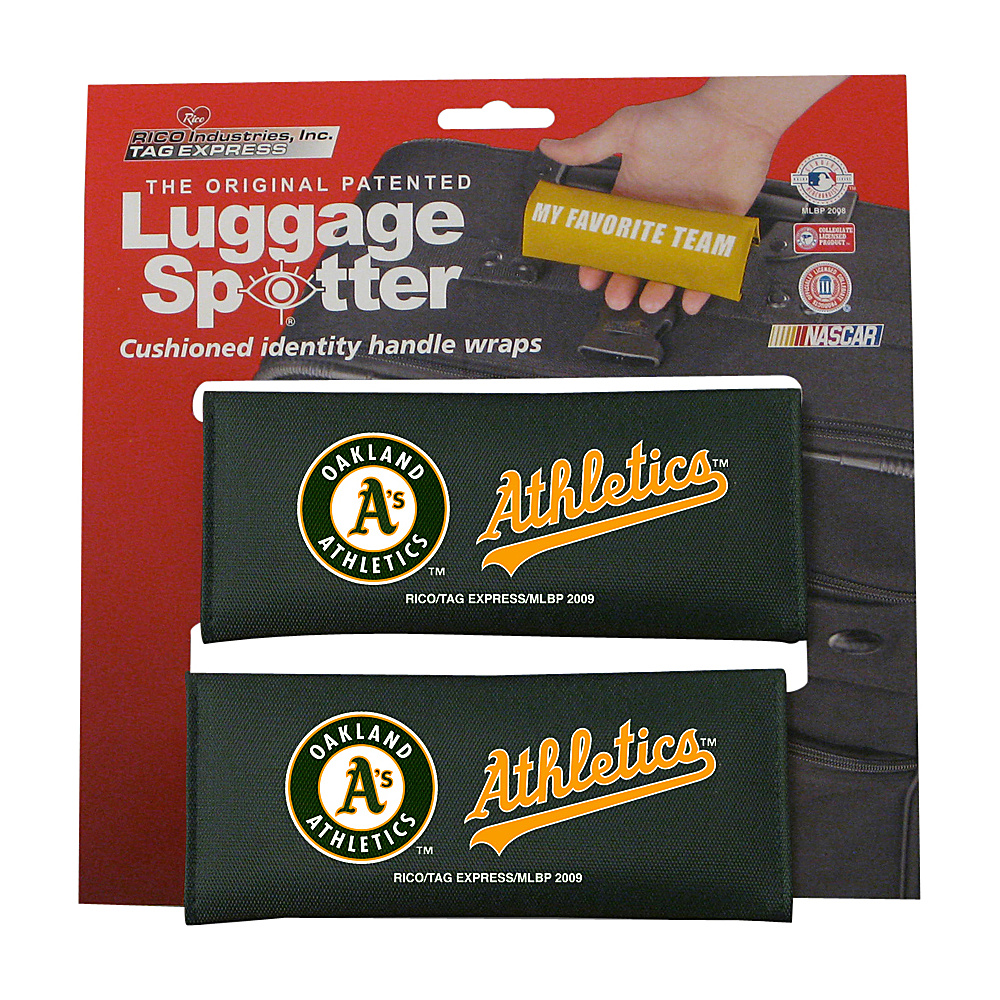 Luggage Spotters MLB Oakland A s Luggage Spotter Green Luggage Spotters Luggage Accessories