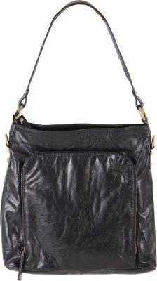 Latico Leathers Georgette Hobo Black - Latico Leathers Leather Handbags