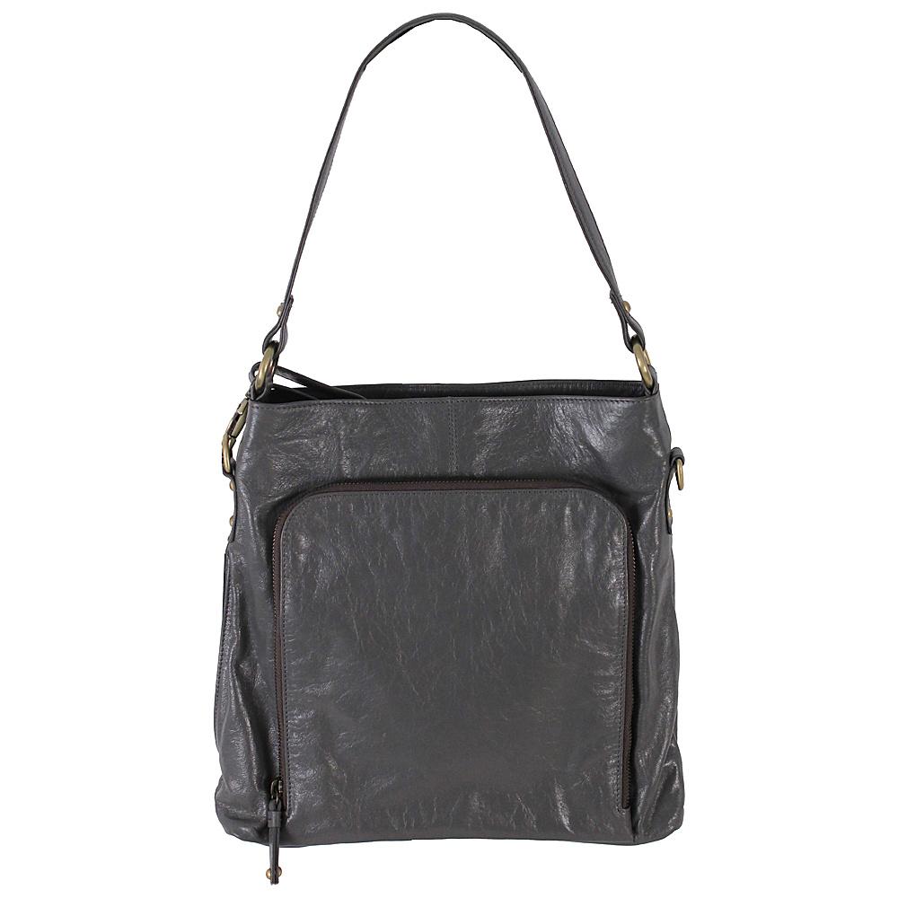 Latico Leathers Georgette Hobo Slate - Latico Leathers Leather Handbags - Handbags, Leather Handbags