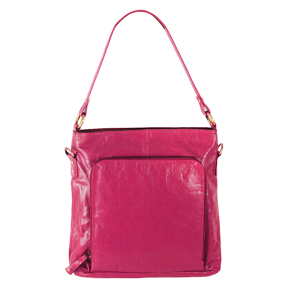 Latico Leathers Georgette Hobo Fuchsia - Latico Leathers Leather Handbags - Handbags, Leather Handbags
