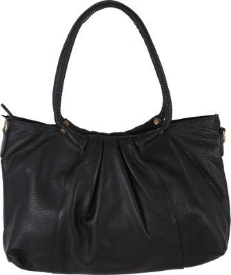 Latico Leathers Lillian Tote Pebble Black - Latico Leathers Leather Handbags