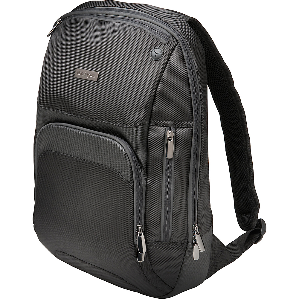 "Kensington Triple Trek Ultrabook Optimized Laptop Backpack - 14"" Black - Kensington Non-Wheeled Business Cases"