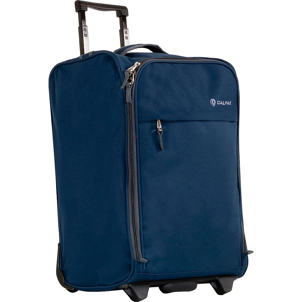CalPak Zorro Carry-On Luggage Navy - CalPak Small Rolling Luggage