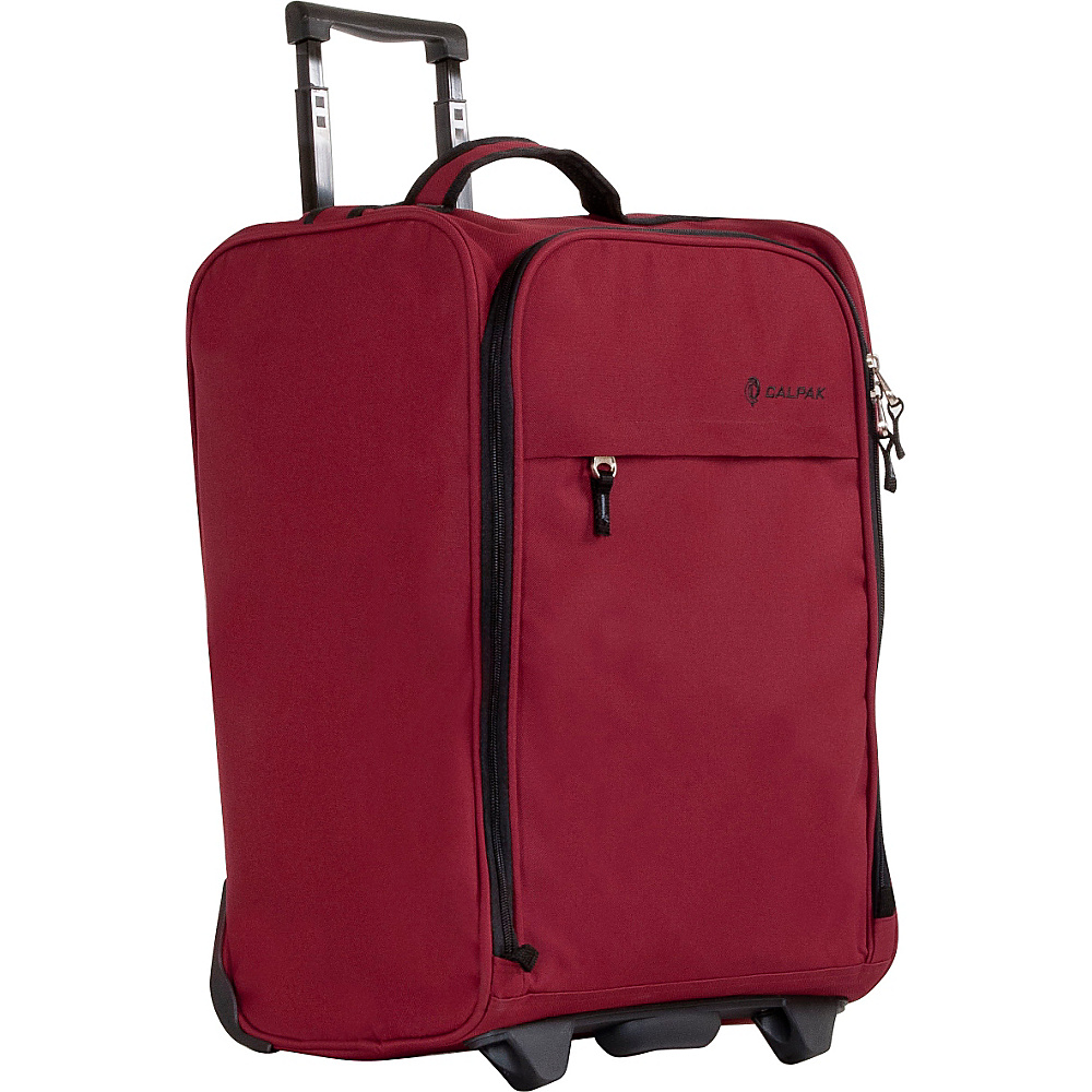 CalPak Zorro Carry On Luggage Deep Red CalPak Softside Carry On