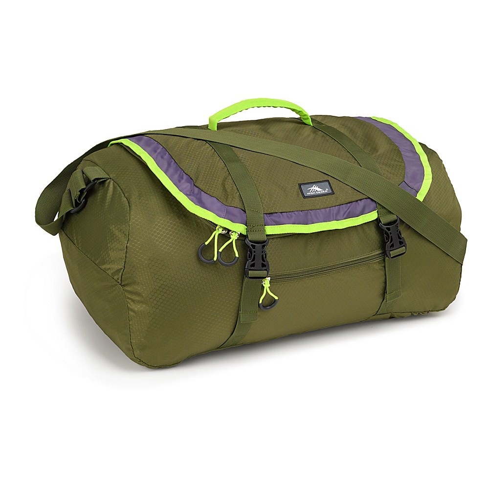 High Sierra 40L Packable Sport Duffel MOSS/MERCURY/CHARTREUSE - High Sierra Lightweight packable expandable bags