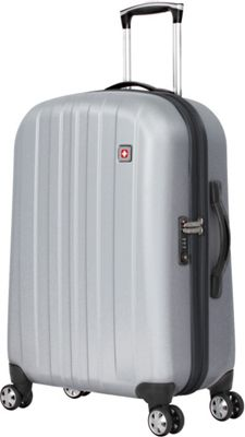 SwissGear Travel Gear SwissGear Travel Gear 24 inch Hardside Spinner Silver - SwissGear Travel Gear Hardside Checked