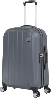 SwissGear Travel Gear SwissGear Travel Gear 24 inch Hardside Spinner Grey - SwissGear Travel Gear Hardside Checked