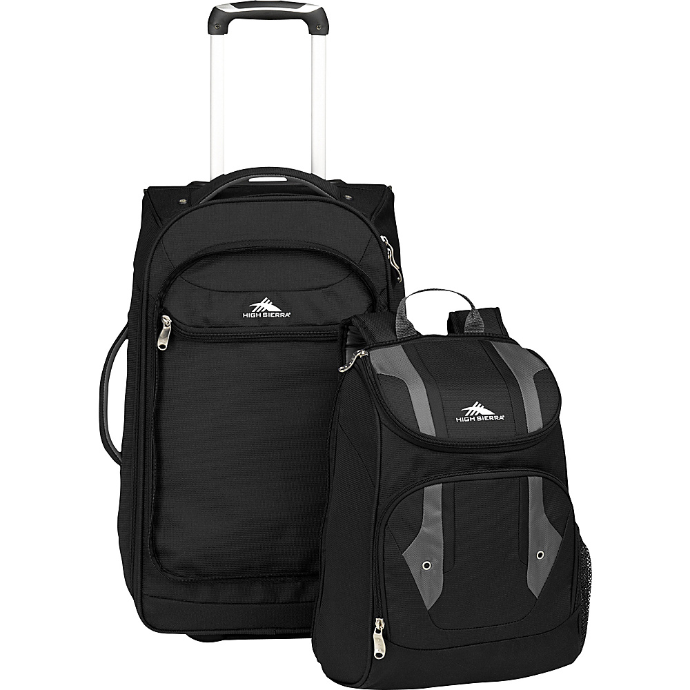 high sierra adventure access carry on wheeled backpack. Black Bedroom Furniture Sets. Home Design Ideas