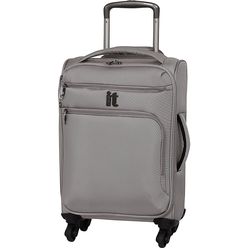 it luggage MegaLite Luggage Collection 21.9 inch Carry On Spinner eBags Exclusive Flint Gray it luggage Softside Carry On