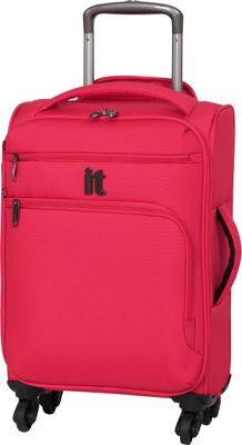 it luggage MegaLite Luggage Collection 21.9 inch Carry On Spinner- eBags Exclusive Fiery Red - it luggage Softside Carry-On