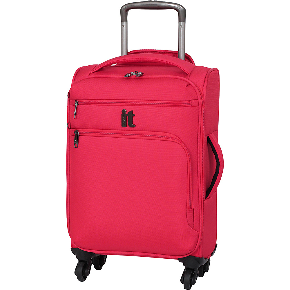 it luggage MegaLite Luggage Collection 21.9 inch Carry On Spinner eBags Exclusive Fiery Red it luggage Softside Carry On