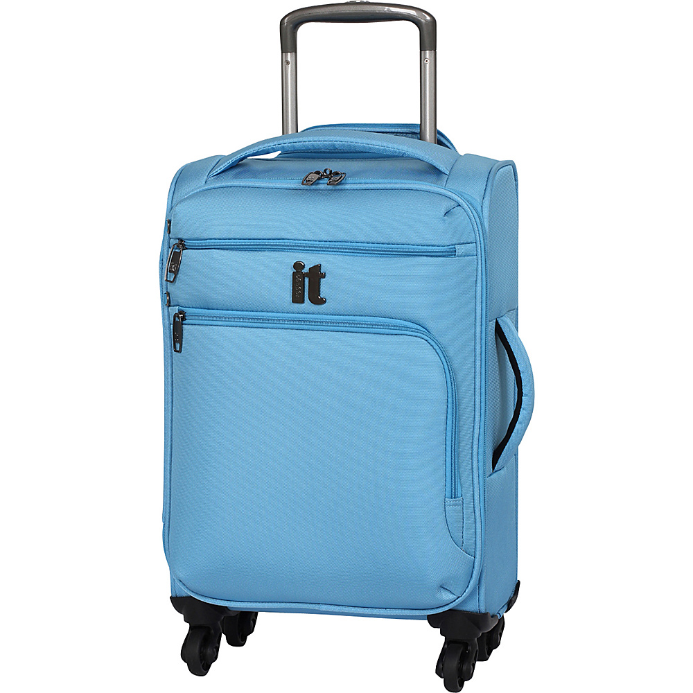 it luggage MegaLite Luggage Collection 21.9 inch Carry On Spinner- eBags Exclusive Blue Grotto - it luggage Softside Carry-On