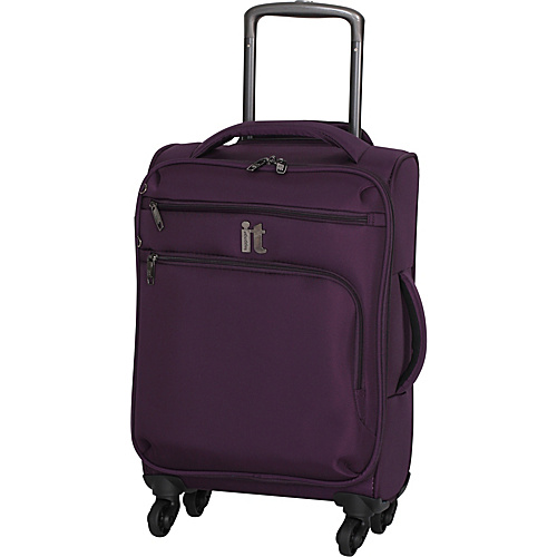 IT Luggage MegaLite Luggage Collection 22 Carry-On Exp. Spinner Potent Purple - IT Luggage Small Rolling Luggage