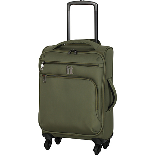 IT Luggage MegaLite Luggage Collection 22 Carry-On Exp. Spinner Avocado - IT Luggage Small Rolling Luggage