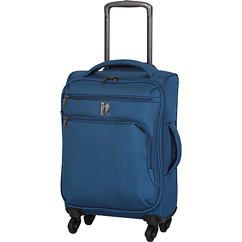 IT Luggage MegaLite Luggage Collection 22 Carry-On Exp. Spinner Moroccan Blue - IT Luggage Small Rolling Luggage