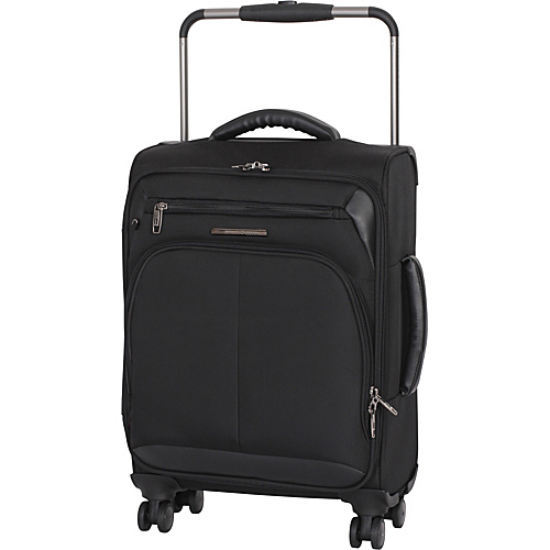 IT Luggage Worlds Lightest Premium 22 Carry-On Spinner Black - IT Luggage Small Rolling Luggage