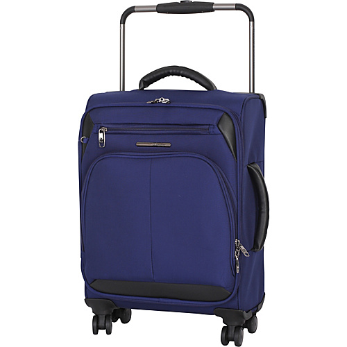 IT Luggage Worlds Lightest Premium 22 Carry-On Spinner Navy - IT Luggage Small Rolling Luggage