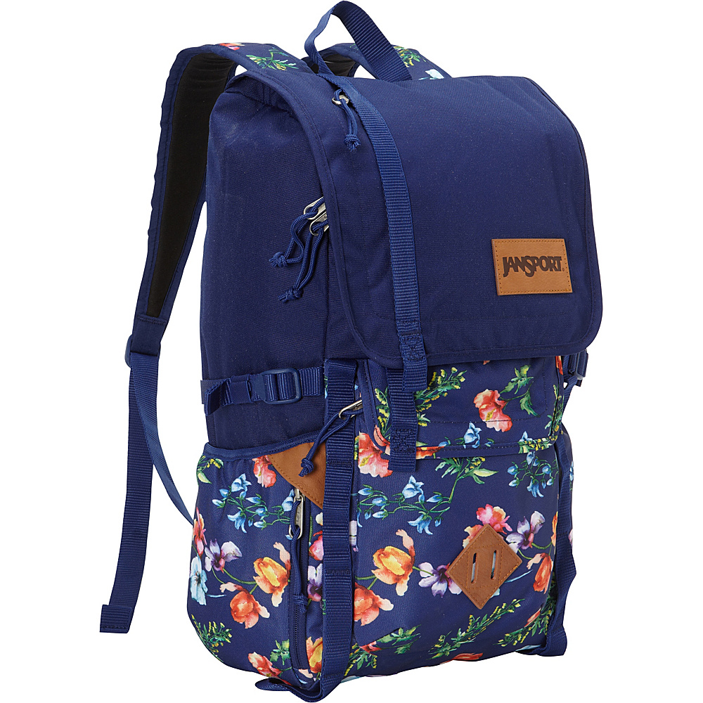 JanSport Hatchet Backpack Multi Navy Mountain Meadow - JanSport School & Day Hiking Backpacks - Backpacks, School & Day Hiking Backpacks