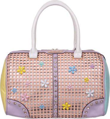 Nicole Lee Selina Floral Pastel Boston Bag Peach - Nicole Lee Manmade Handbags