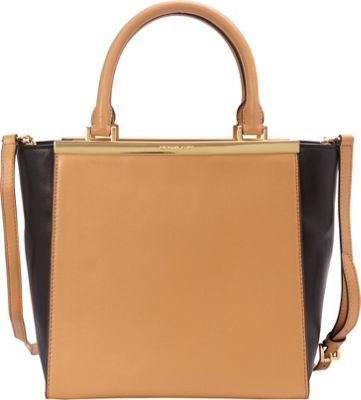 MICHAEL Michael Kors Lana Colorblock Medium Tote Suntan/Black - MICHAEL Michael Kors Designer Handbags