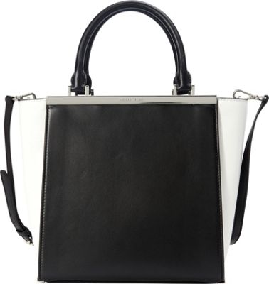 MICHAEL Michael Kors Lana Colorblock Medium Tote Black/Optic White - MICHAEL Michael Kors Designer Handbags