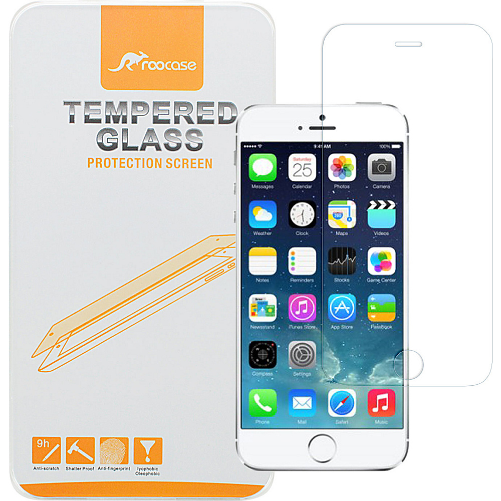"rooCASE Premium Real Tempered Glass Screen Protector Guard for iPhone 6/6s - 4.7"" Tempered Glass - rooCASE Electronic Cases"