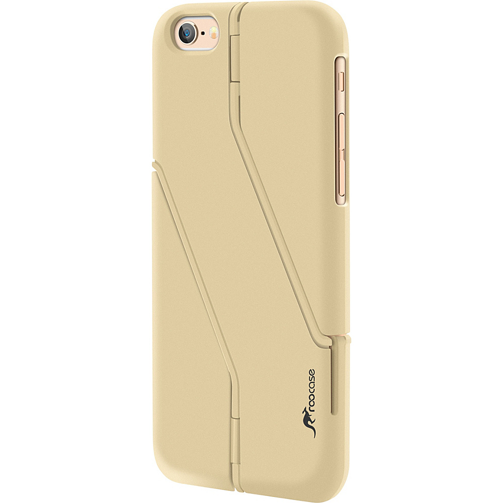 "rooCASE Slim Fit Switchback Kickstand Case Cover for iPhone 6/6s - 4.7"" Fossil Gold - rooCASE Electronic Cases"