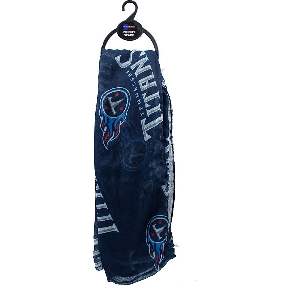 Littlearth Sheer Infinity Scarf - NFL Teams Tennessee Titans - Littlearth Hats/Gloves/Scarves - Fashion Accessories, Hats/Gloves/Scarves