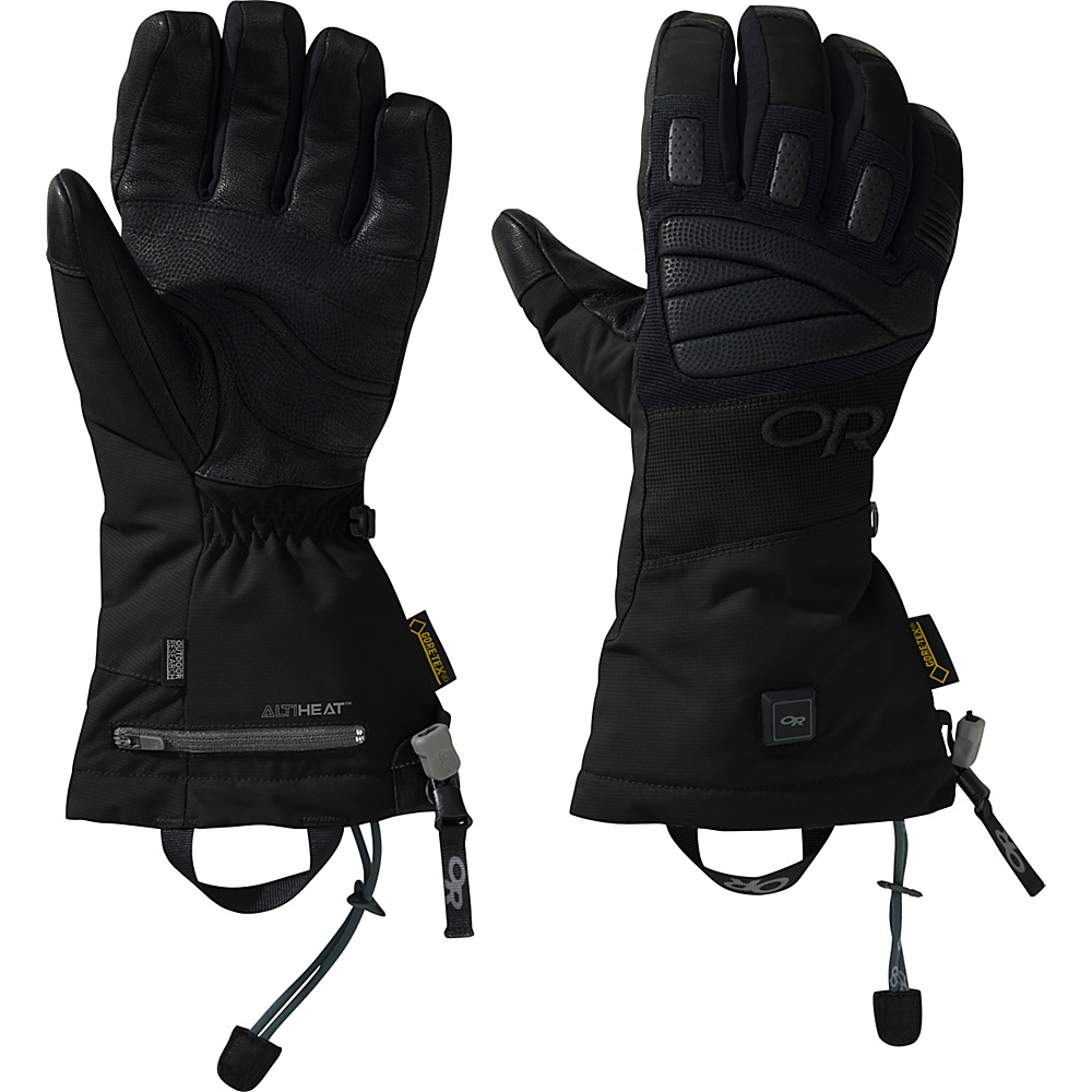 Outdoor Research Lucent Heated Gloves M - Black - Outdoor Research Hats/Gloves/Scarves - Fashion Accessories, Hats/Gloves/Scarves