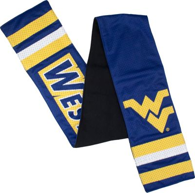 Littlearth Jersey Scarf - Big 12 Teams West Virginia University - Littlearth Hats/Gloves/Scarves