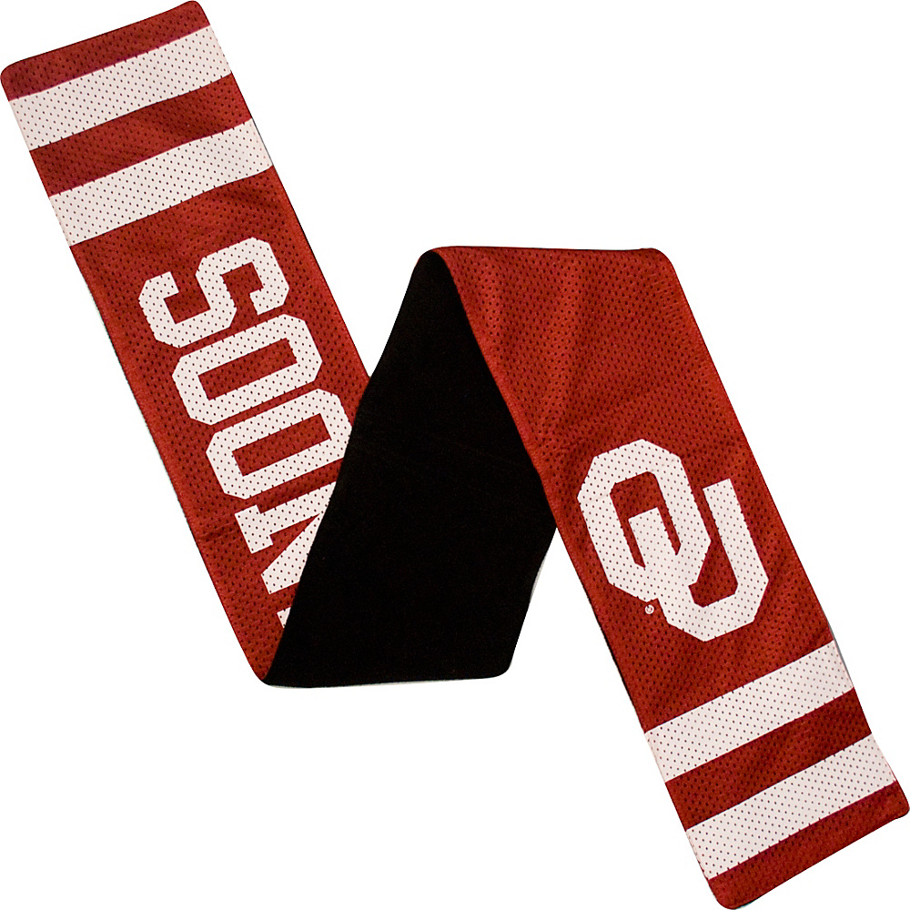 Littlearth Jersey Scarf - Big 12 Teams Oklahoma, U of - Littlearth Hats/Gloves/Scarves - Fashion Accessories, Hats/Gloves/Scarves