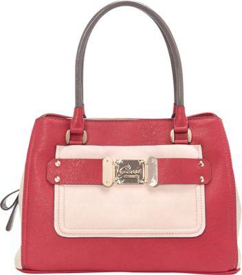 GUESS Drama Queen Girlfriend Satchel Passion - GUESS Manmade Handbags