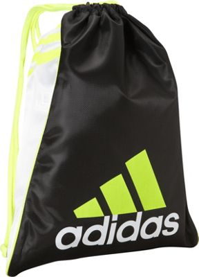 adidas Burst Sackpack Black/White/Solar Yellow - adidas Everyday Backpacks