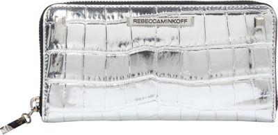 Rebecca Minkoff Ava Zip Wallet Silver - Rebecca Minkoff Designer Ladies Wallets