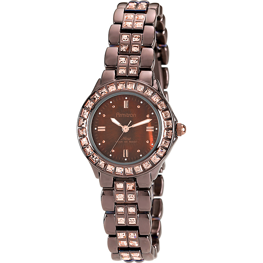 Armitron Ladies Brown Plated Bracelet Watch Brown Armitron Watches