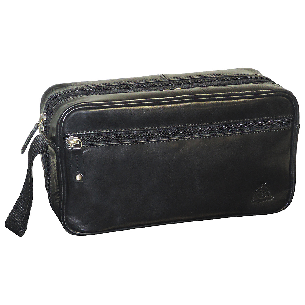 Dopp Carson Double Zip Travel Kit Black Dopp Toiletry Kits