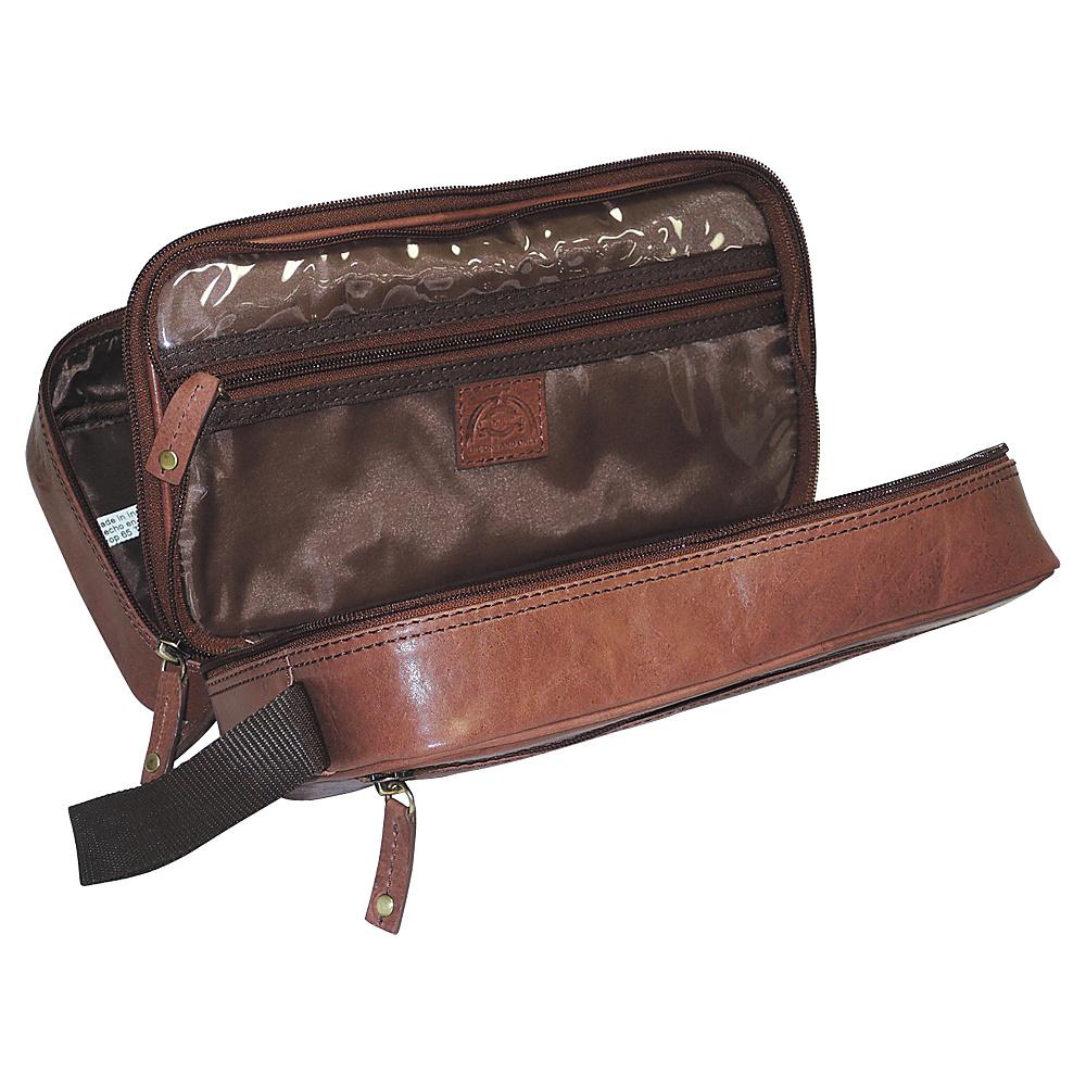 Dopp Carson Double Zip Travel Kit Dark Brown - Dopp Toiletry Kits
