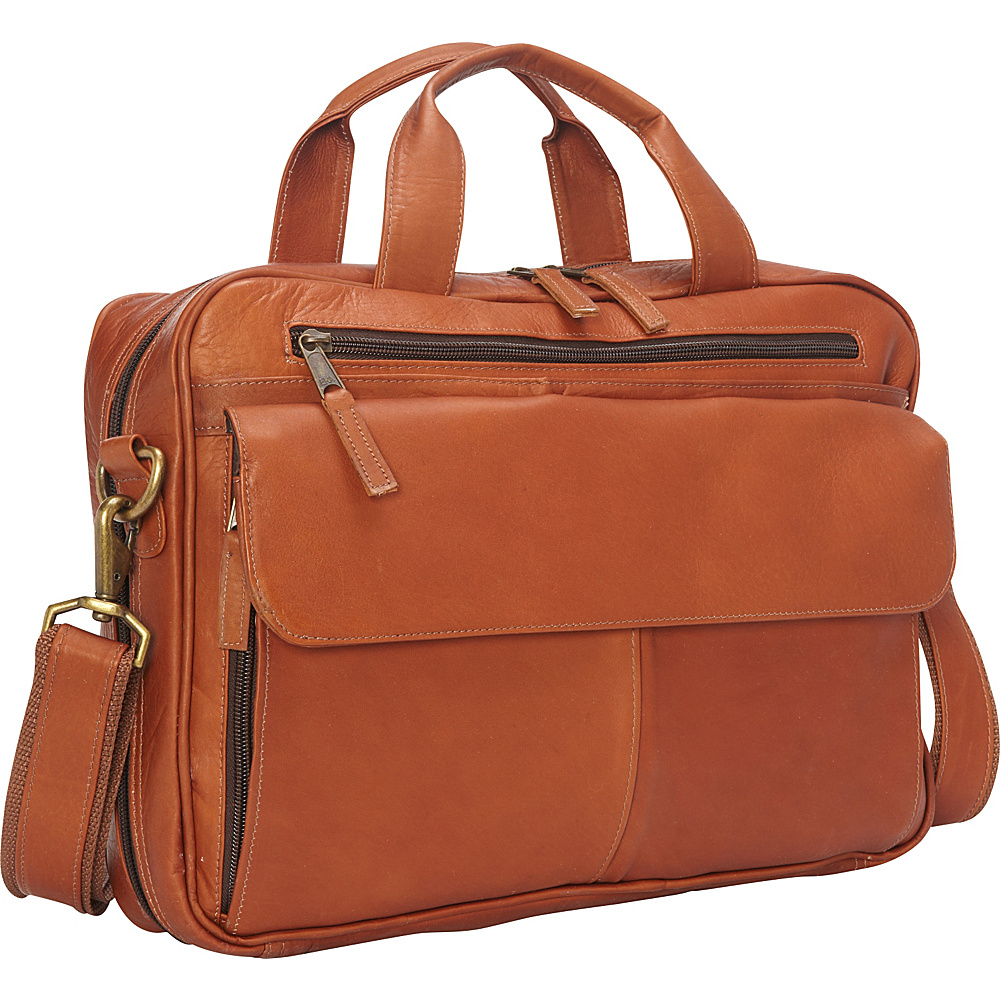 Latico Leathers Park Avenue Laptop Brief Natural - Latico Leathers Non-Wheeled Business Cases - Work Bags & Briefcases, Non-Wheeled Business Cases