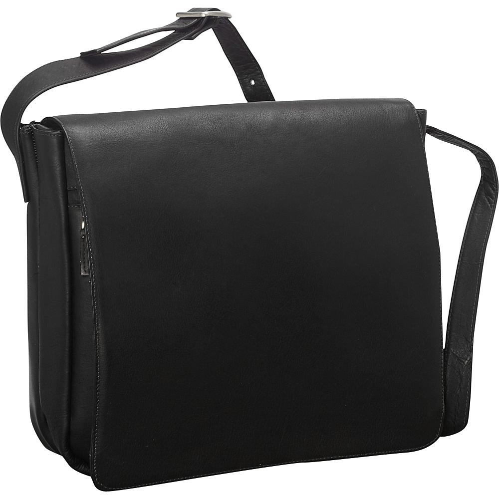 Latico Leathers Yosemite Laptop Messenger - MD Black - Latico Leathers Messenger Bags - Work Bags & Briefcases, Messenger Bags