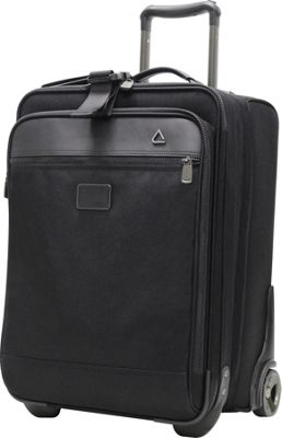 """Image of Andiamo 22"""" Auto Expand Carry-on with Suitor Midnight Black - Andiamo Small Rolling Luggage"""